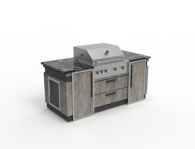 Vanrios Modern Outdoor Kitchen Island KI04