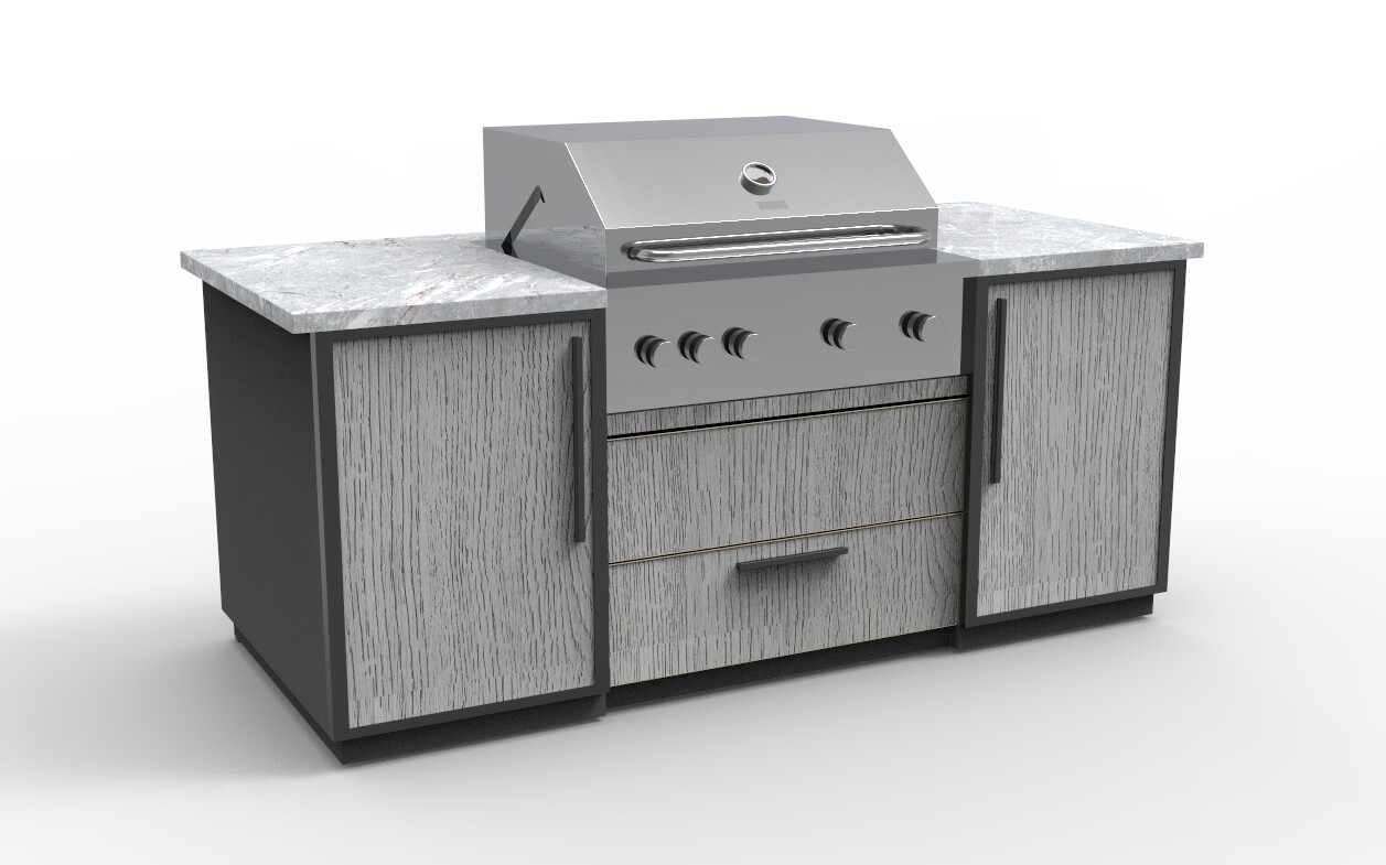 Vanrios Modern Outdoor Kitchen Island KI06