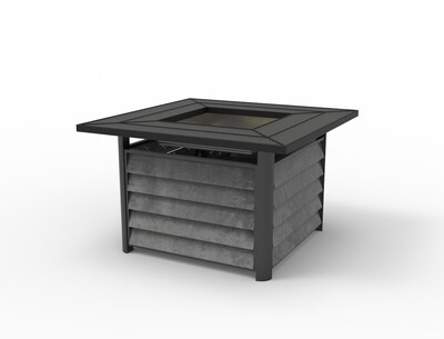 commercial outdoor patio aluminum fire pit table for garden hotel contract
