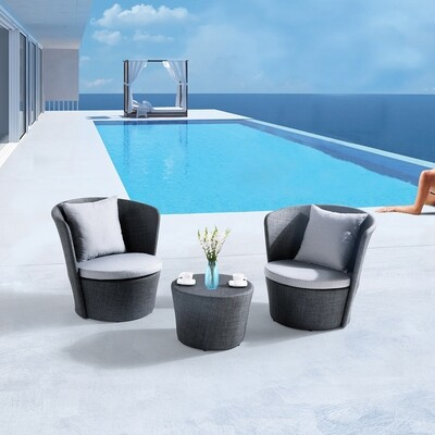 3 Piece Outdoor Bistro Sets with Cushions