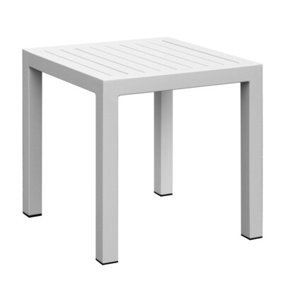 Outdoor Aluminum Slat Chat side Table
