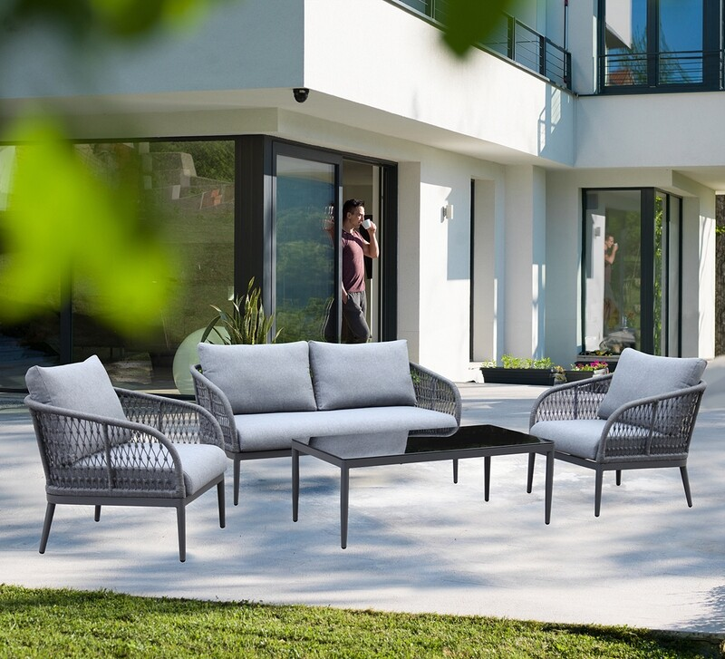 Outdoor Woven Rope Loveseat Sets
