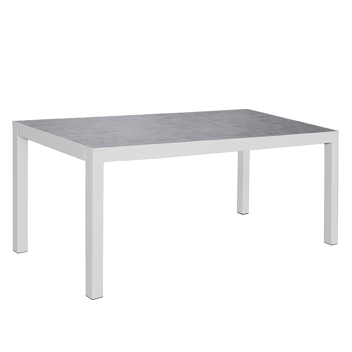 Aluminum Frame Temper Glass Top Outdoor Dining Table