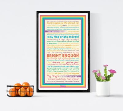 Bright Enough Lyric Poster - RAINBOW