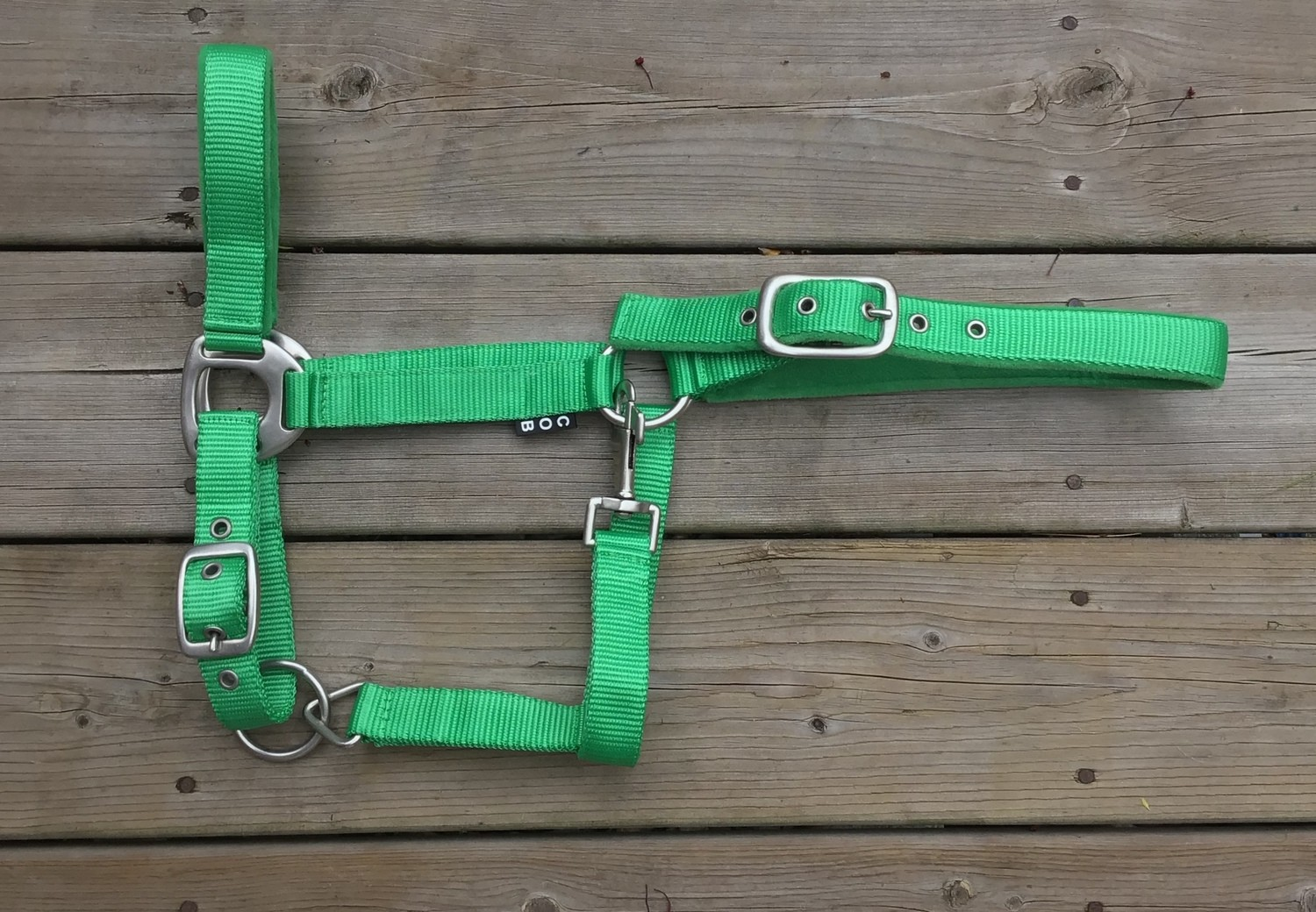 Padded Nylon Halter - Green