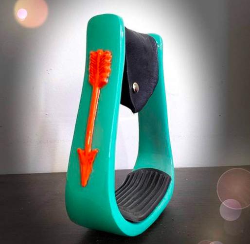 3D Orange Arrow w/ Turquoise Seal