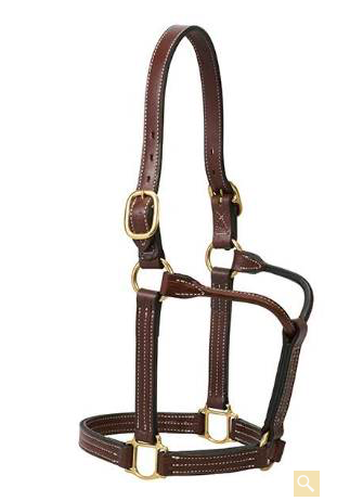 Weaver Leather Thoroughbred Halter Without Snap 1-Inch
