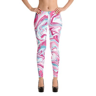 WMN PINK MARBLE Leggings