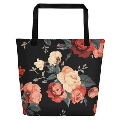 ROSE All-Over Print Beach Bag