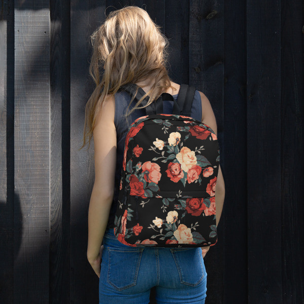 ROSE All-Over Print Backpack