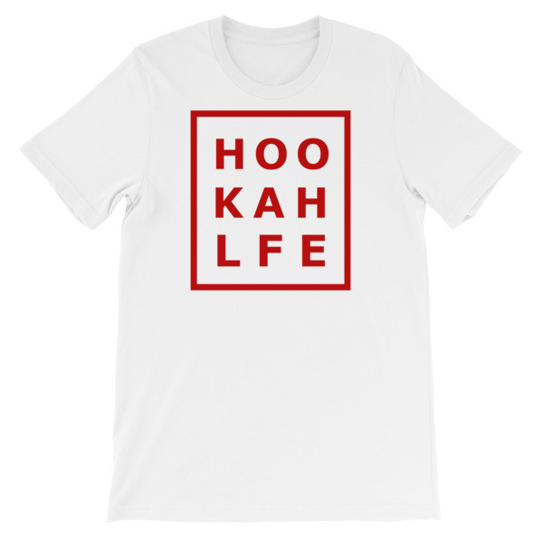 RED HOOKAH LF Bella + Canvas 3001 Unisex Short Sleeve Jersey T-Shirt with Tear Away Label