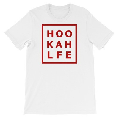 RED HOOKAH LF Bella + Canvas 3001 Unisex Short Sleeve Jersey T-Shirt with Tear Away Label