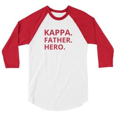 KAPPA FATHER 3/4 sleeve raglan shirt