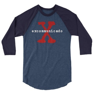 Excommunicado 3/4 sleeve raglan shirt