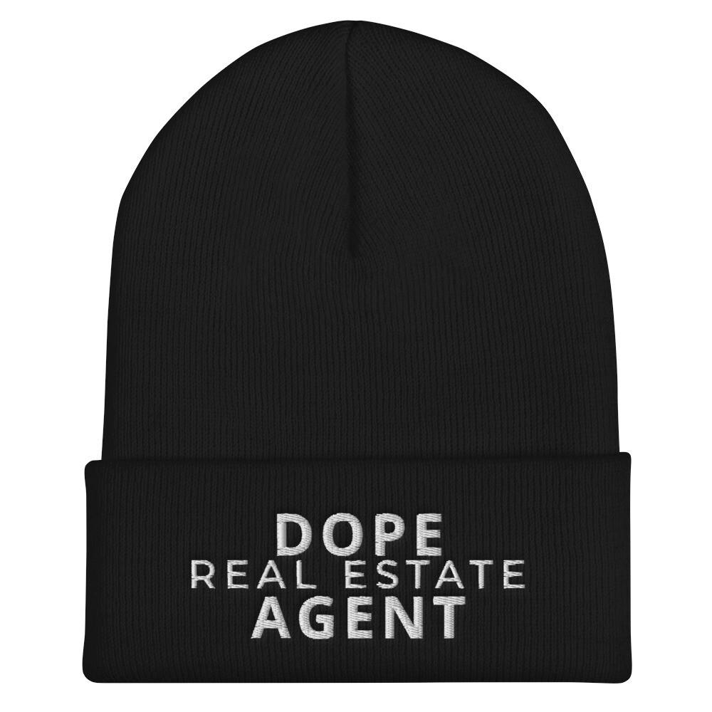 Dope Real Estate Agent Cuffed Beanie