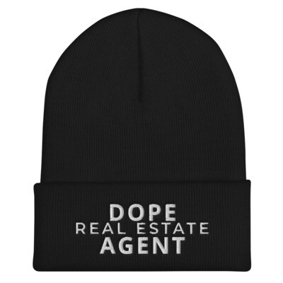 Dope Real Estate Agent Cuffed Beanie
