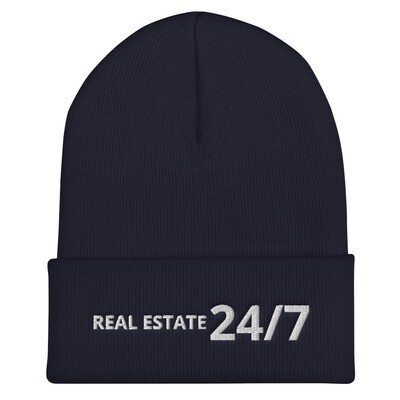 Real Estate 24/7 Cuffed Beanie