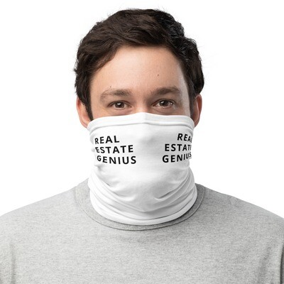 REAL ESTATE GENIUS Neck Gaiter