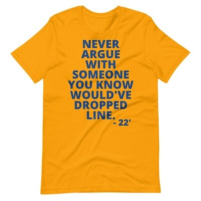 Poodles (Gold) Don't Argue Unisex T-Shirt