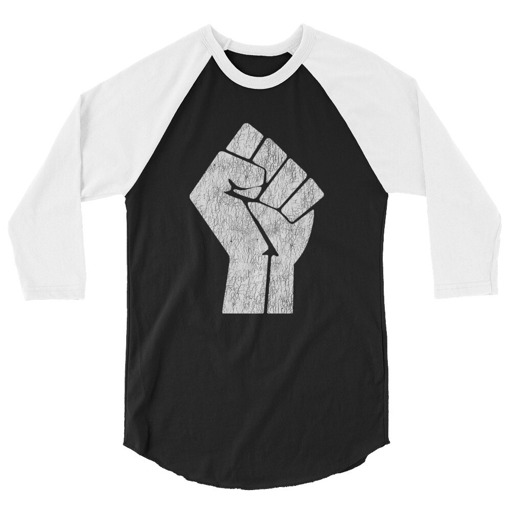 Fist Up 3/4 sleeve raglan shirt