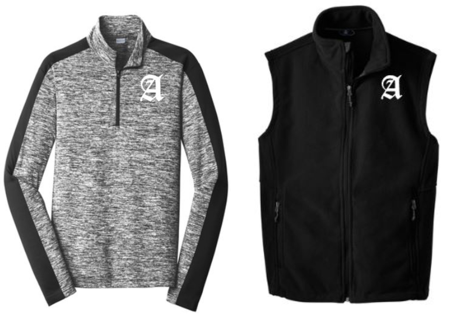 PERFORMANCE 1/4 ZIP OR FLEECE VEST