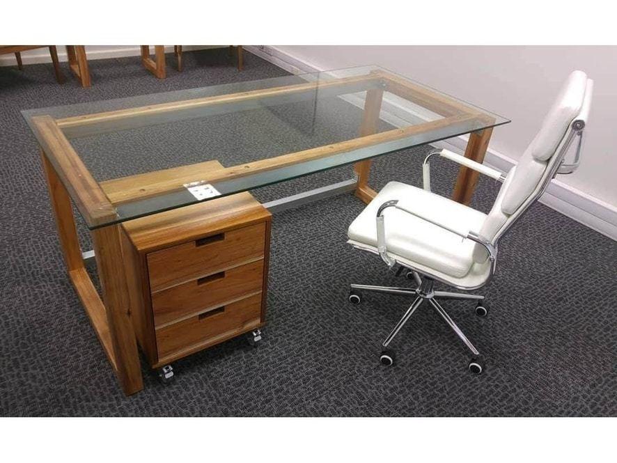 Cali Desk & Pedestal