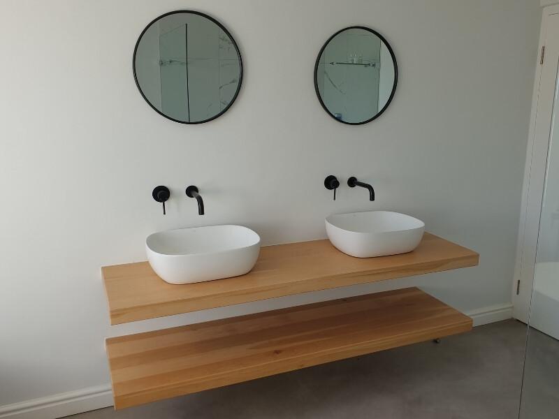 Solid Oak Floating Vanity