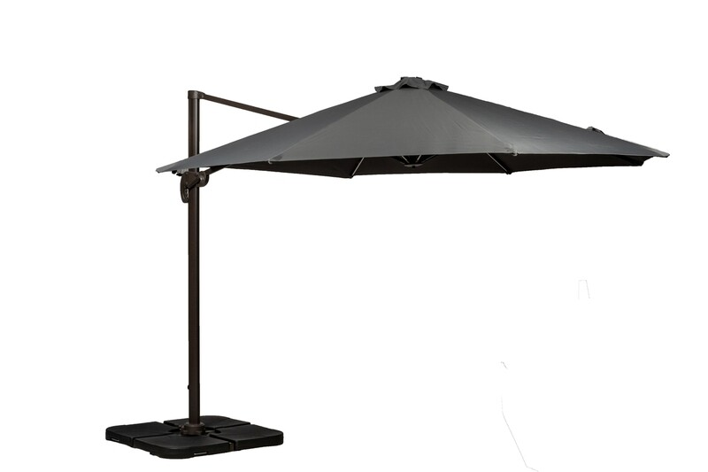 3.5 Metre Deluxe Cantilever Parasol With LED Lights