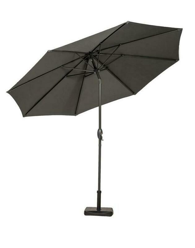 Grey 3 Metre Easy Open Parasol