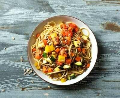 Spaghetti met groentensaus