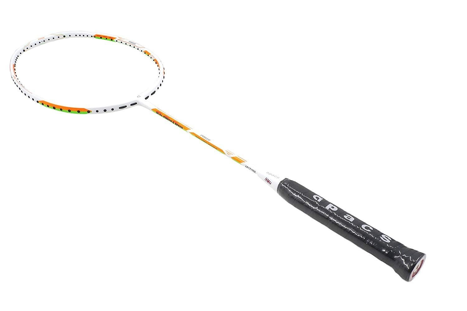Apacs Dual Power And Speed White Badminton Racquet