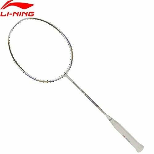 LI-NING Turbo Charging N 7 II Liliyana Natsir Badminton Racquet, White Gold