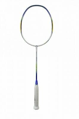 Li-Ning 620 Windstorm Carbon Fiber Badminton Racquet, Size S2 (White/Yellow)