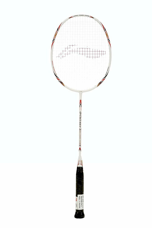 LI-NING G-Tek 58-II Badminton Racquet (Strung), S2 Grip Size, (White)