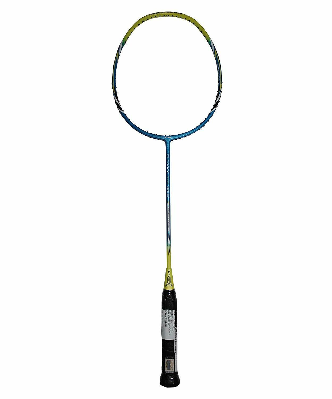 LI-NING Power 1600 G-Force Carbon Fiber Badminton Racquet, Size S2 (Blue/Lime)