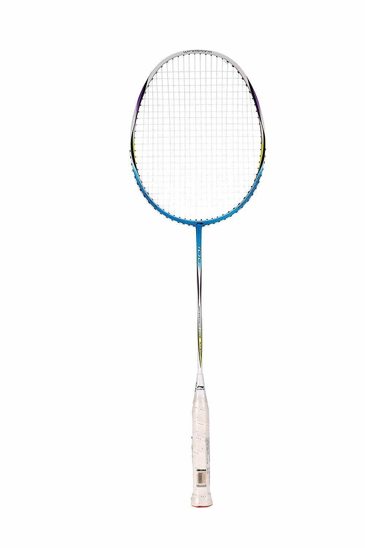 LI-NING Code-100 Windstorm Carbon Fiber Badminton Racquet, Size S2 (Blue)