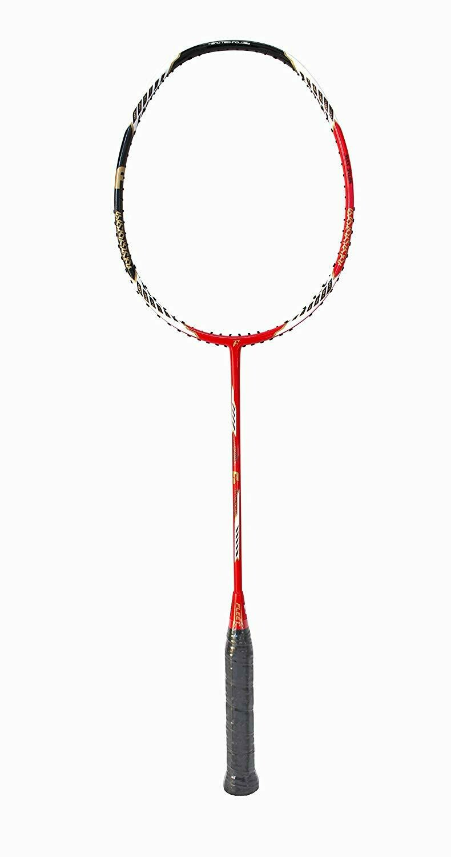 Fleet Force 1 RED Professional Badminton Racquet Unstrung 3U 35 LBS Ultra Slim Shaft with Racquet Cover