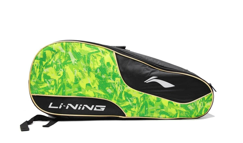 LI-NING ABDN238-4 Black/Lime 2 in 1 Racket Bag-Kit Bag-