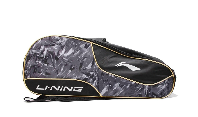LI-NING ABDN238-3 Black/Grey 2 in 1 Racket Bag-Kit Bag-