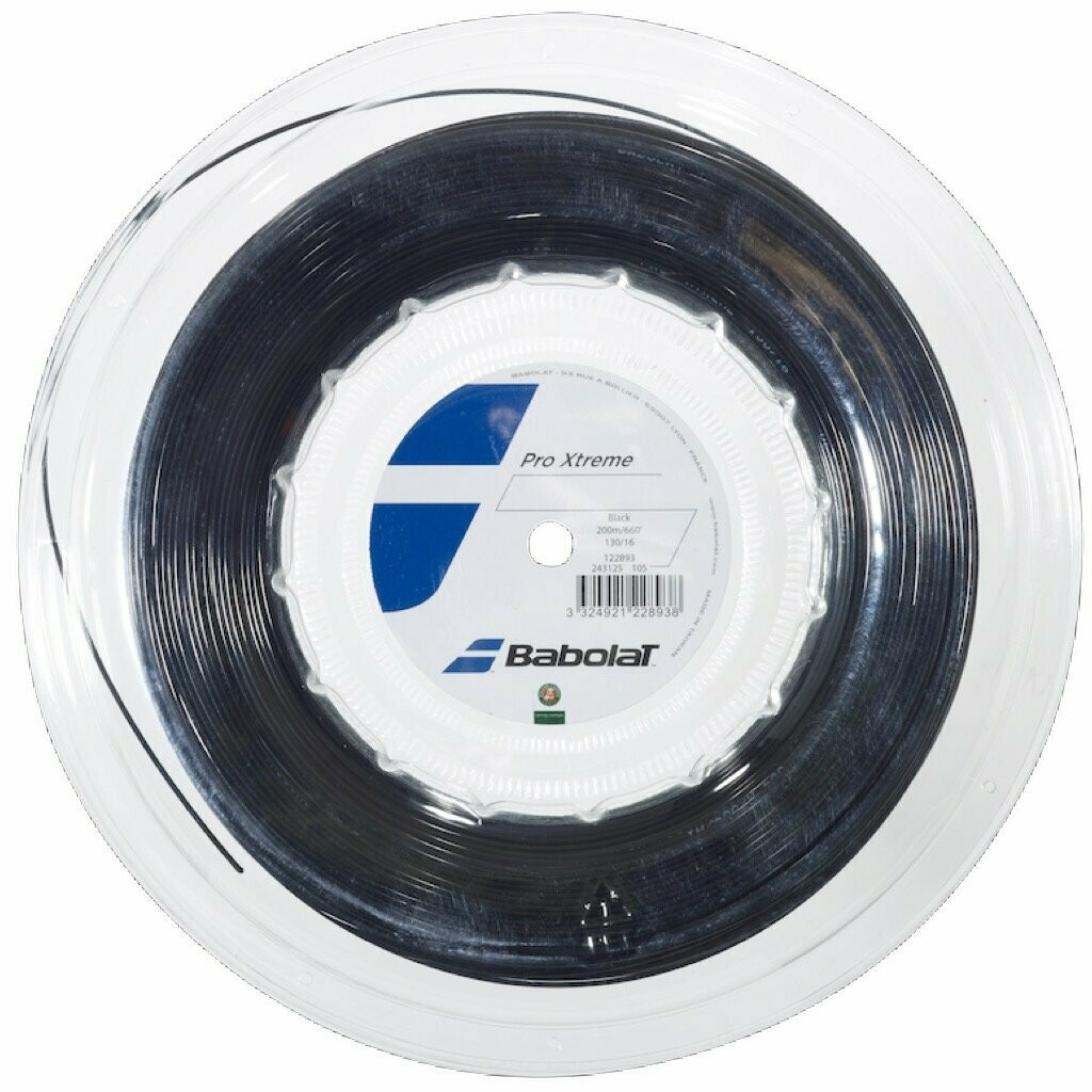 Babolat Pro Xtreme 16 200M Tennis Racquet String, Reel: 200 M (Black)