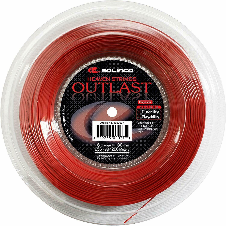 Solinco Outlast 16 Red 200 meter Tennis Strings