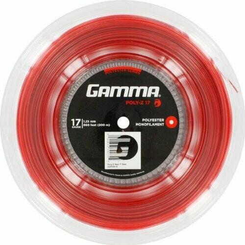 Gamma Poly Z 17G Tennis String Reel Red