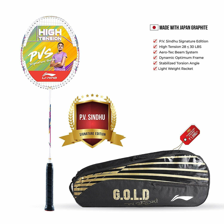 LI-NING PV Sindhu Series Carbon-Graphite Badminton Racquet with Free Kit-Bag And String