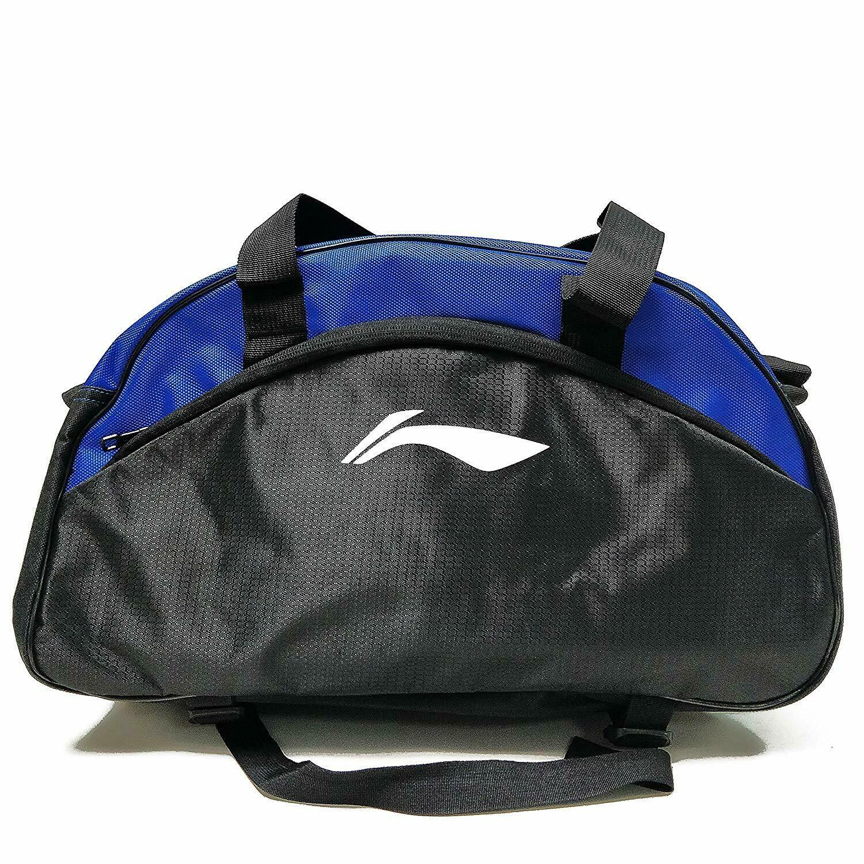 LI-NING ABDN136-1 Polyester Multi Purpose Training Gym Bag, 18 x 8 x 10.5 inch (Black/Blue)