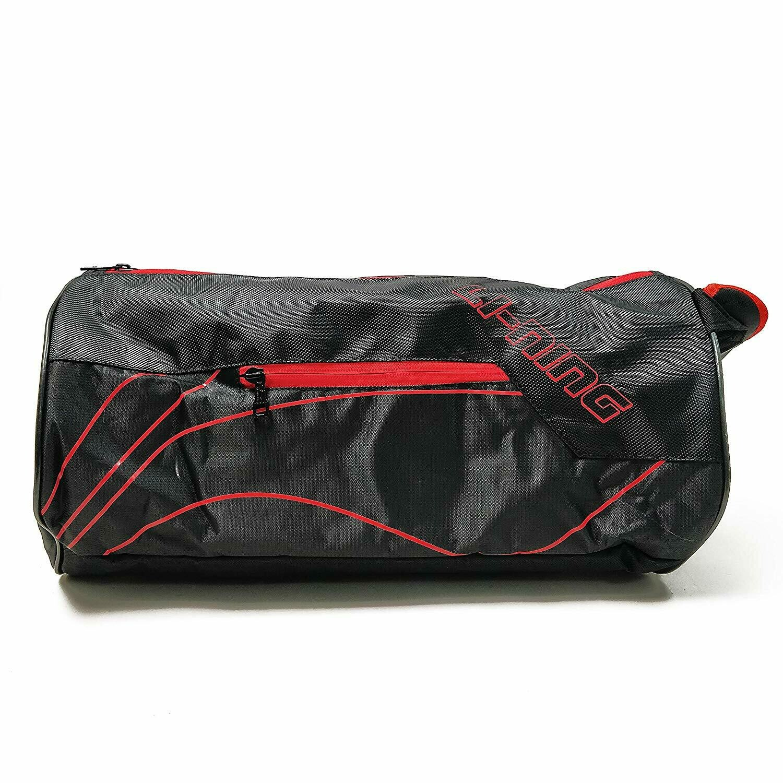 LI-NING ABDN132-2 Polyester Training Gym Bag, 18 x 9 x 9 inch (Black/Red)
