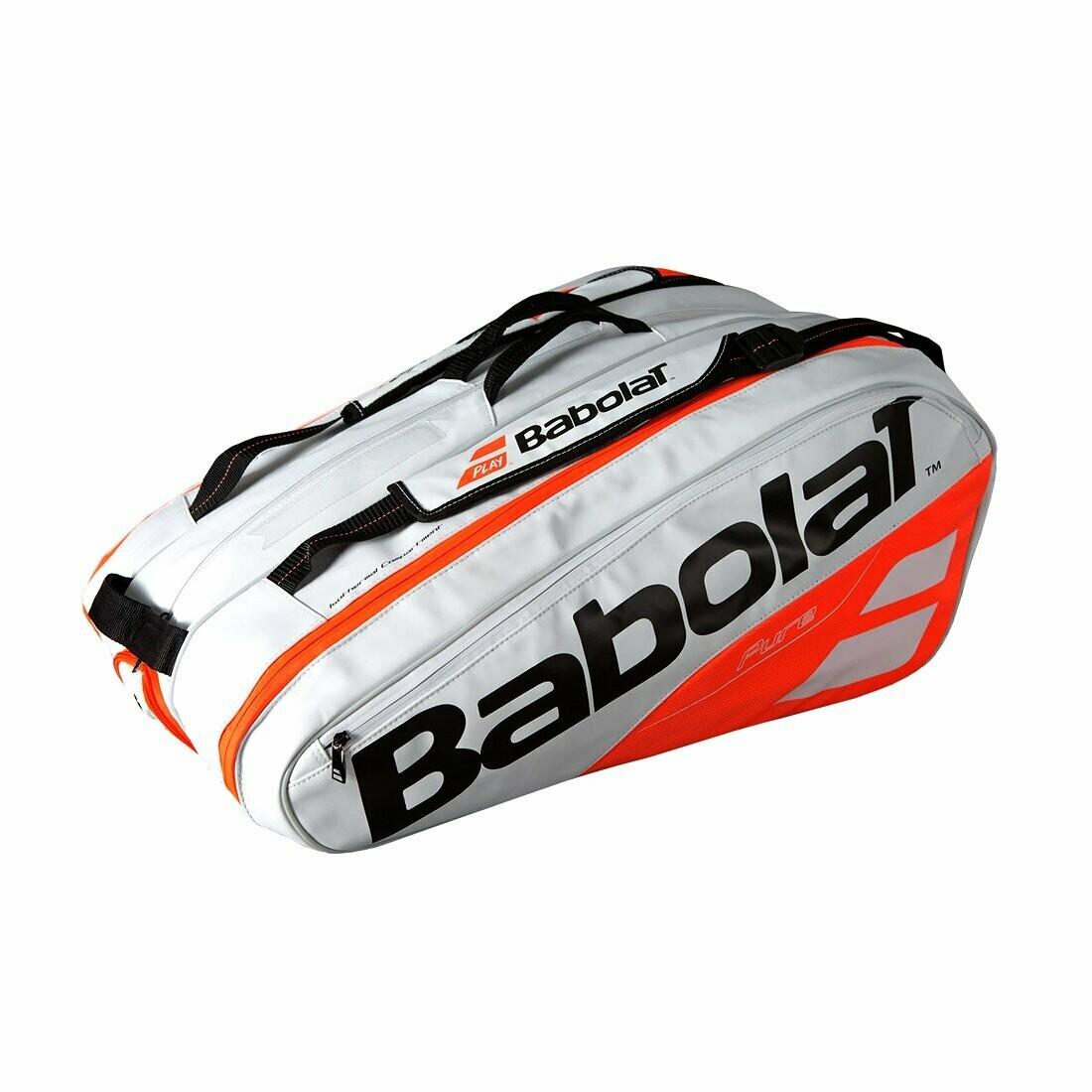 Babolat RHx12 Pure Strike Tennis Kit Bag (White red)