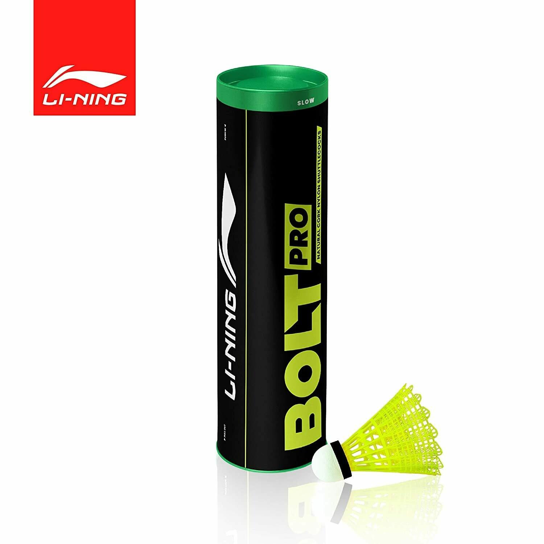 LI-NING Bolt Pro (6 in 1) Nylon Badminton Shuttlecocks