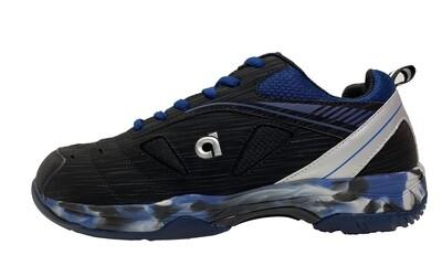 Apacs Power Cushion SP 608 F III Non Marking Badminton Shoe- Black/Blue- With Shoes bag