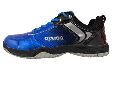 APACS Cushion Power CP 212 XY Blue/Black Non Marking Badminton Shoes with Free Shoe Bag