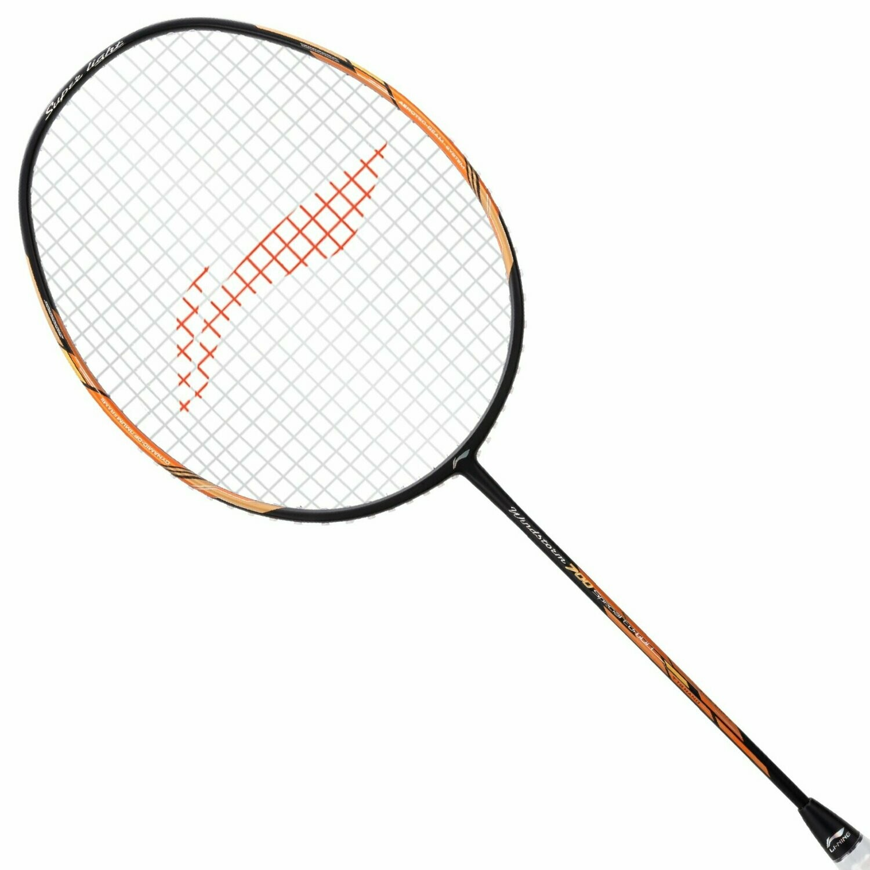 LI-NING Windstorm 700 Special Edition Badminton Racquet (Black/Gold)